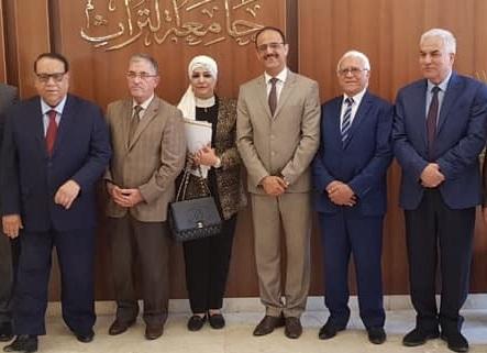 مشاركة  عمادة الكلية في أجتماع اللجنة الوزارية لتطوير وتحديث مناهج العلوم الادارية والاقتصادية